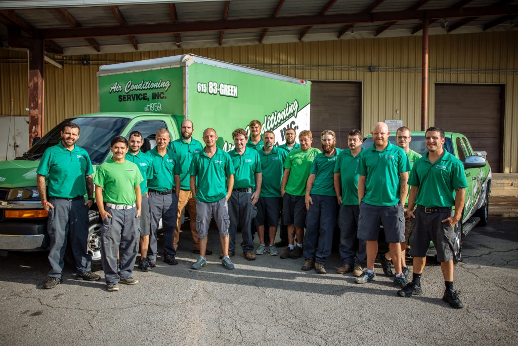 Air Conditioning Service, Inc. Group photo.