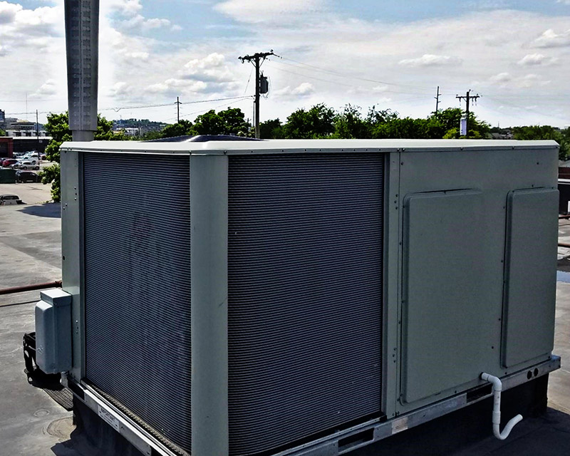 Large outdoor AC unit.